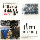 177 Pcs Aluminum Motorcycle Fairing Bolt Kit Bodywork Screws Spire Spring Nuts