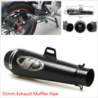 51mm Metal Exhaust Muffler Tail Pipe Large Displacement Slip on For Motorcycle