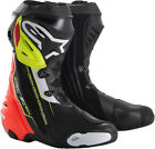 Alpinestars Supertech R Motorcycle Boots Black Red Yellow Mens All Sizes