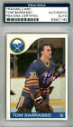 Tom Barrasso Autographed Signed 1985-86 Topps Card #105 Buffalo Sabres PSA DNA