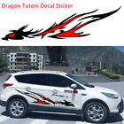 2 Pcs Car SUV Body Styling Flame Dragon Totem Modified Vinyl Film Decal Sticker