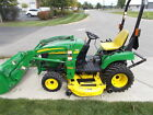JOHN DEERE 2305 COMPACT TRACTOR WITH LOADER DECK 4WD DIESEL NA STOCK  153670