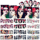 Nail Art Water Decals Sexy Skull Lady Halloween Manicure Transfer Stickers Decor