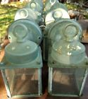 2 Vintage Brass Porch Lights Great Patina FREE SHIPPING !! old outdoor light  #2