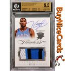 2012-13 Kevin Durant Panini Flawless Game Worn Patch Auto 25 BGS 9.5 Pop 5