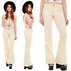 Vintage 70s Corduroy BELL BOTTOMS Flared Jeans Hip Huggers Pants Hippie Boho S