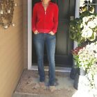 Juicy Couture Fitted Red Velour Athletic Jacket