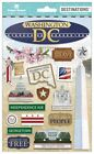 Scrapbooking Crafts Stickers 2D Washington DC Monuments White House Capitol Free
