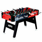 ESPN 54 Inch Foosball Soccer Arcade Table with Bead Scoring and Accessories