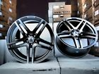 18 AMG S65 STYLE STAGGERED WHEELS RIMS FITS MERCEDES BENZ C E S SLK SL CL CLS