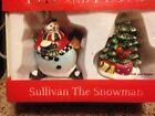 2006 Fitz And Floyd Sullivan The Snowman Salt And Pepper Shaker New In Box