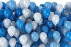 First Birthday Boy Decorations Kit 1st Bday Decor Blue Banner PomPoms Balloons