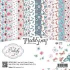 Scrapbooking Crafts 6X6 Paper Pack ModaScrap Butterfly Dreams Feathers Flowers