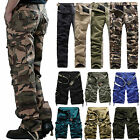 Combat Mens Cotton Cargo ARMY Pants Military Camouflage Camo Long Short Trousers