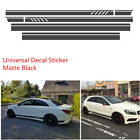 Car Racing Stripe Top Side Stripe Skirt Roof  Hood Decal Vinyl Graphics Sticker