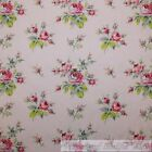 BonEful Fabric FQ Cotton Quilt VTG Pink Rose Flower Old Victorian French Country