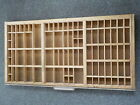Hamilton Printers Type Cabinet Divided Drawer Shadow Box Tray Wooden 32x17x1.5