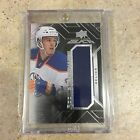 2015-16 UD Black Rookie Trademarks Relics Connor McDavid RTRCM