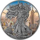 USA 2017 1 American Eagle 1oz Antique Empire State Building Silver 9999 Coin