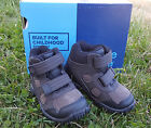 New Stride Rite Boys Boots Rugged Ritchie 2 Dark Brown Leather Size 6 W Hiking