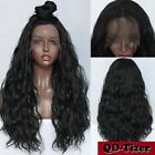 Long Black Synthetic Lace Front Wig Loose Wavy Hair Wig Baby Hair Heat Resistant
