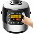 LED Rice Cookers Touch Control Electric CR502 10 Cups(Uncooked) 16-Modes Steel