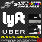 Uber Lyft Custom Vinyl Decal Car Rear Window Sticker Sign Logo Rideshare Lift