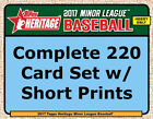 2017 Topps Heritage Minor League Complete Base Set w SP 220 CARDS Tebow Acuna B