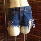 Vintage 90S 00S DKNY Denim Cutoffs Shorts Worn Festival Hippy Grunge Sz 30