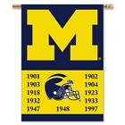 University of Michigan Wolverines 2 Sided Championship Banner Flag