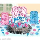 BABY SHOWER Girl or Boy TABLE DECORATING KIT 23pc Gender Reveal Supplies