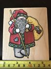 Rubber Stampede Country Santa rubber stamp NEW