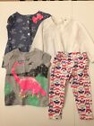 Lot of Carters Osh Kosh Baby Girl Tops  Leggings Sizes 9  12 Months