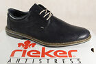 Rieker Mens Lace Up Shoes Low Shoes Sneakers Blue 14520 NEW