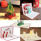 5 PACK Assorted 3D Pop Up Greeting Card Christmas Tree Happy Holiday Merry Xmas
