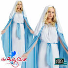 DELUXE ADULT VIRGIN MARY COSTUME Nativity Christmas Fancy Dress Outfit 3321