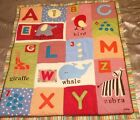 CoCaLo Alphabet Soup ABC Animal Baby Blanket Quilt Comforter EUC Blanket Only