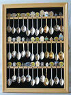 36 Spoon Display Case Rack Holder Wall Cabinet, glass door, SP01-NAT