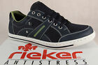 Rieker Mens Lace Up Shoes Sneakers Low Shoes Blue 19020 NEW