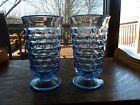 (2) Footed Ice Tea Tumblers Glasses 6