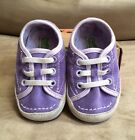 BNIB Simple Weetire Baby Infant Suede Sneakers Crib Shoes Sz M 6 12 Months