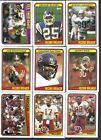 1988 Topps Complete Set 1 -396 Football