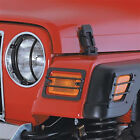 97 06 Jeep Wrangler TJ LJ Black Turn Signal  Side Marker Covers Smittybilt
