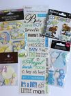 Lot Baby Boy Scrapbooking Stickers Sandylion Dazzlers Papyrus Phrases Cards