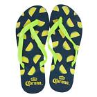 Corona Extra Womens Green Strap Lime Flip Flops Blue