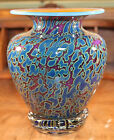 Bryon Sutherland Glow Vein Amphora Art Glass Vase Signed and Dated
