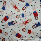 BonEful Fabric FQ Cotton Quilt White Red Blue Military Star USA Toile Patriotic