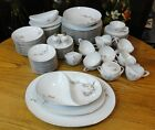 Vintage SANGO China LARCHMONT Large 99 Pc. DINNER SET for 12 Pine Cones
