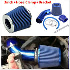 3 inch Universal Car Turbo Cold Air Flow Intake Filter Kit W Alumimum Pipe Clamp