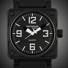 INFANTRY INFILTRATOR MENS ANALOG WRIST WATCH BLACK RUBBER ARMY OUTDOOR SPORT